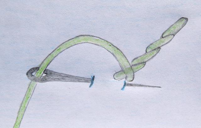How to sew the stem stitch