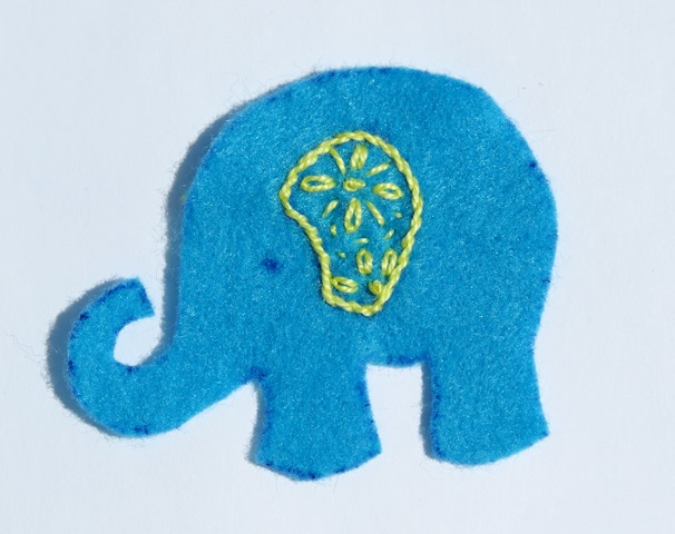 How to sew elephant free tutorial and pattern - step 3