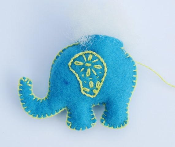 How to sew elephant free tutorial and pattern - step 4