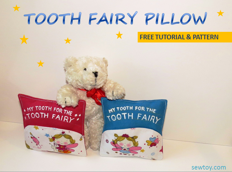 Tooth fairy pillow free tutorial and pattern for sewing