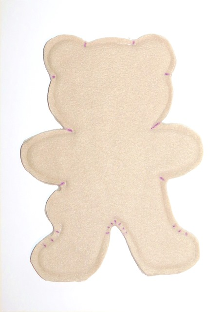 Baby Teddy bear free pattern for easy sewing - step 4