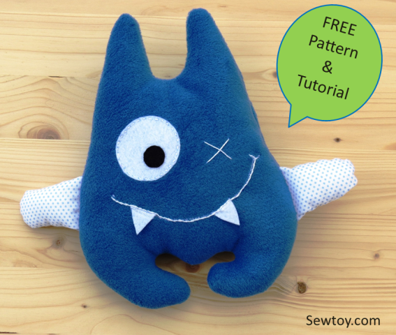 HOW TO SEW CUTE AND FRIENDLY MONSTER - FREE PATTERN — Sew Toy