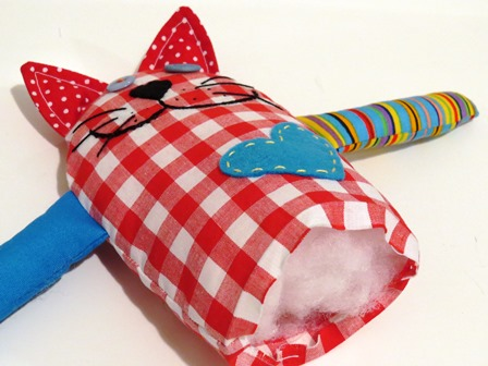 Bernie the cat toy free sewing pattern_step 8
