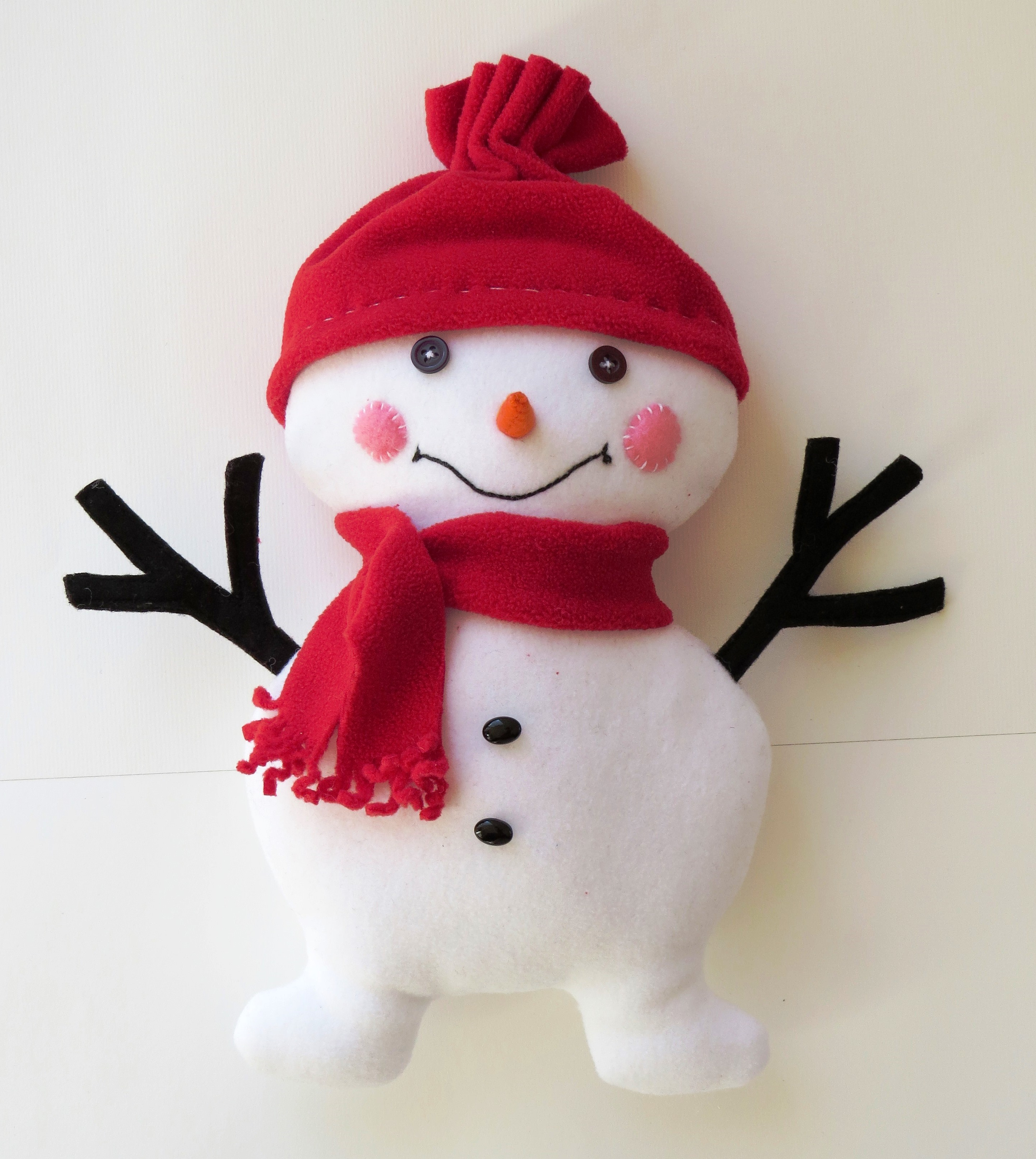 Free sewing pattern snowman