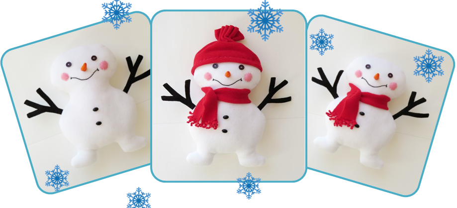 Snowman toy free sewing pattern_header
