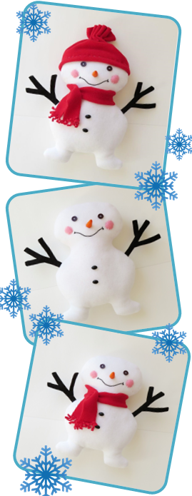Snowman toy free sewing pattern_pinterest