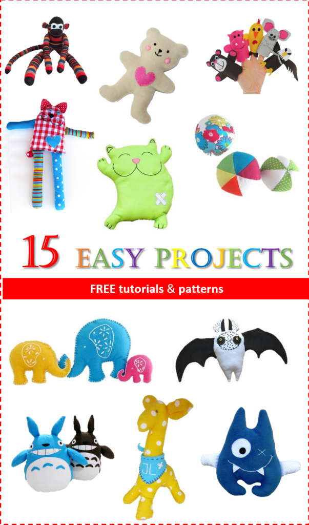 15 easy projects for toy sewing free tutorial and patern