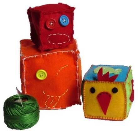 Happy felt blocks
