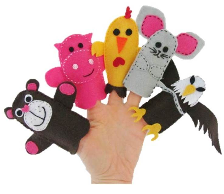 finger puppets toy sewing free pattern and tutorial