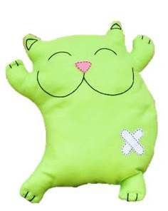 joyful cat pillow