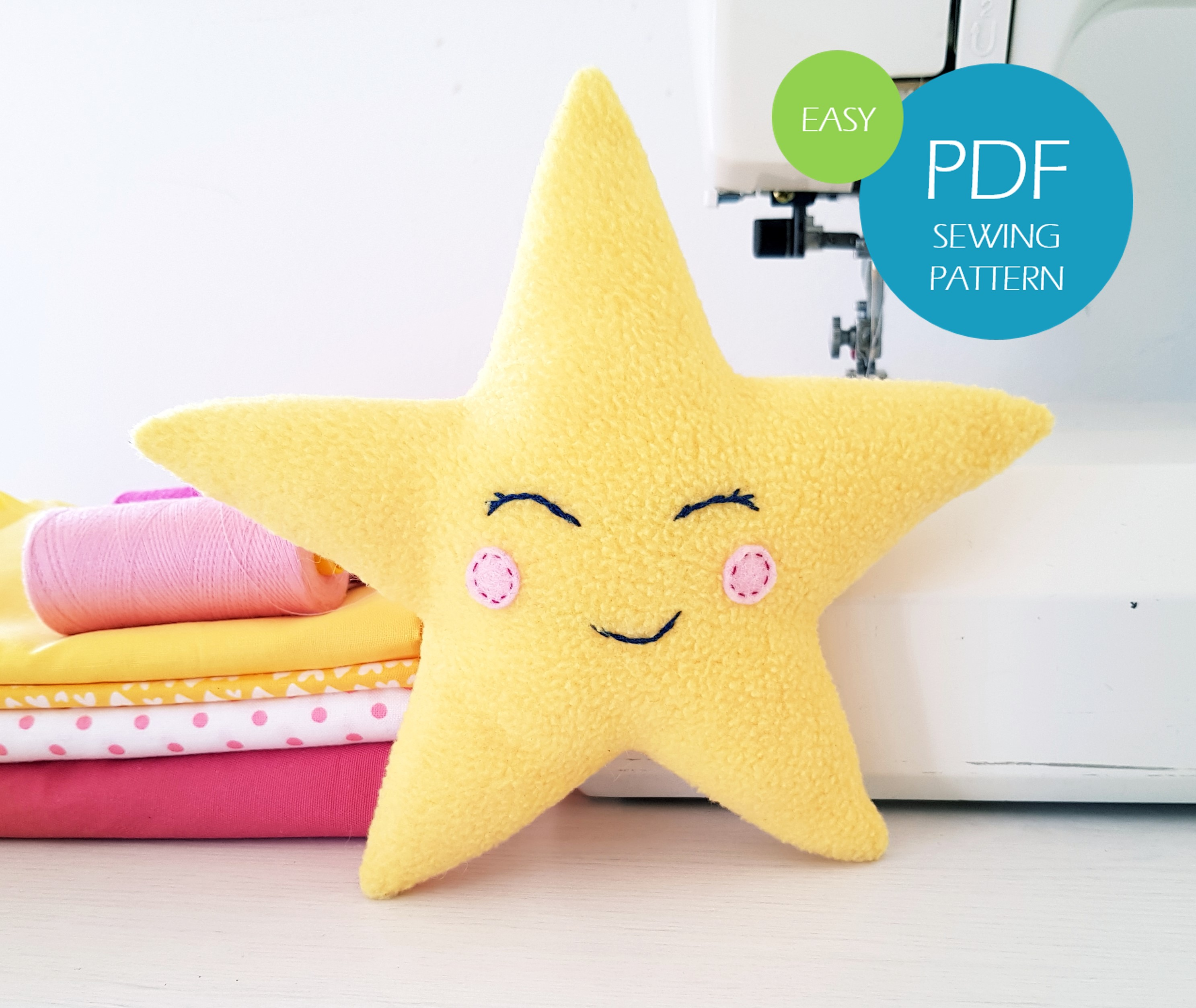 Star sewing pattern easy for beginners instant download_1_DIY