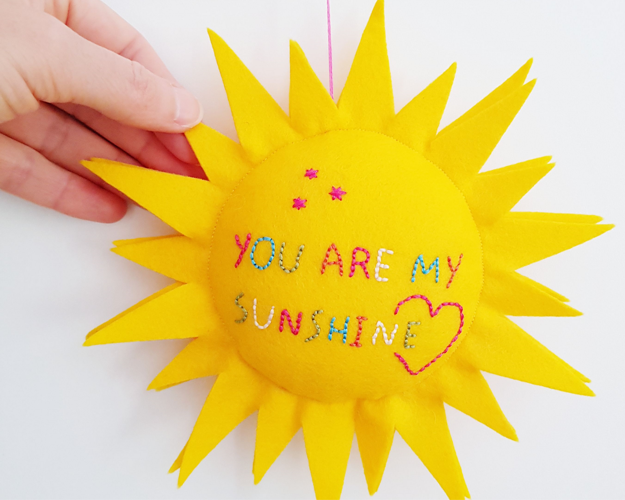 Sun pillow pattern -  You are my sunshine embroidery pattern
